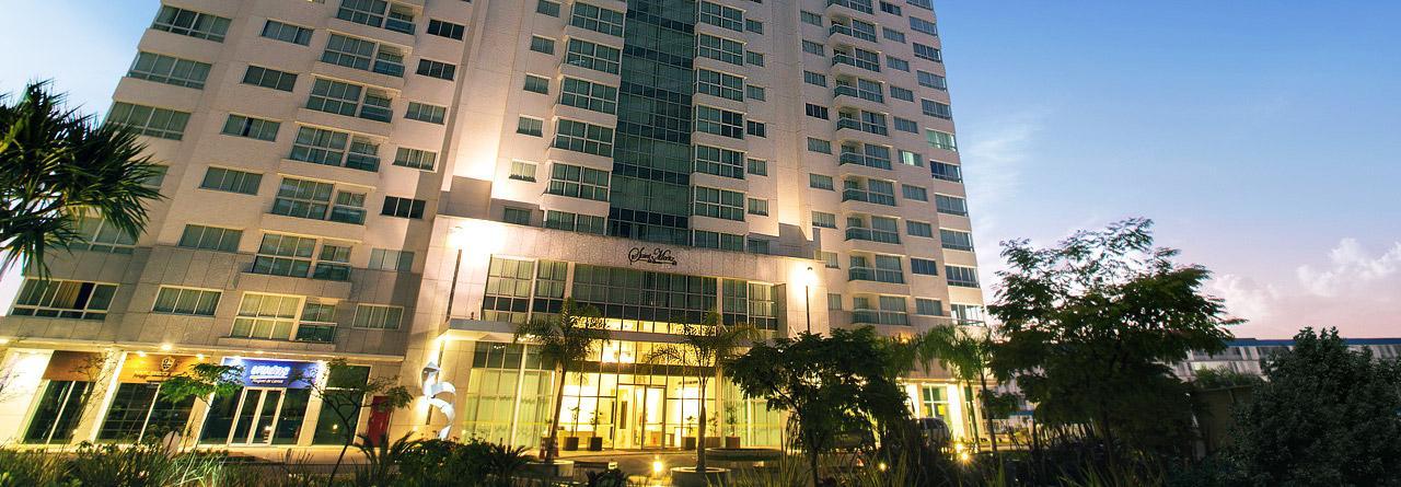 FLAT PARA LOCAÇÃO NO HOTEL SAINT MORITZ DE 26m², NO 9º ANDAR, MOBILIADO, À R$ 2.100,00!!!