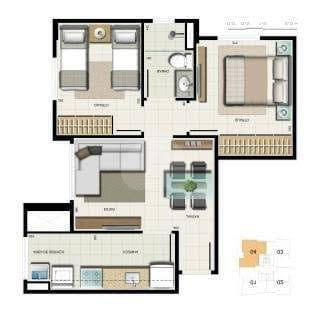 Vendo apt° 2 qts, vaga, nascente, Residencial San Pietro, Samambaia Norte, 180.000,00